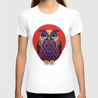 indonesia T-shirts featuring OWL 2 by Ali GULEC