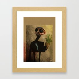 A man with a vase Framed Art Print