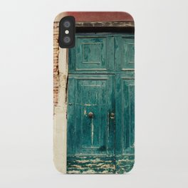 Turquoise Door in Venice iPhone Case