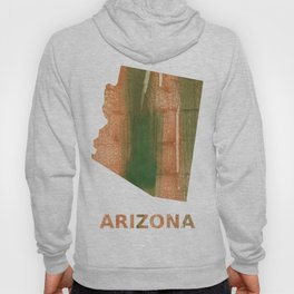 Arizona map outline Peru green streaked wash drawing Hoody