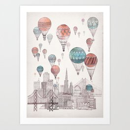 Voyages Over San Francisco Art Print