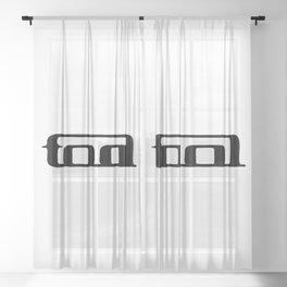 Tool band clean logo Sheer Curtain