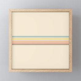 Yoshikage - Classic Fine Line Retro Stripes Framed Mini Art Print