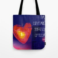 murakami Tote Bags featuring H. Murakami quote -1 by dollmadeinjapan