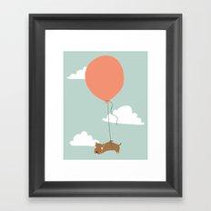 wiggle pup Framed Art Print