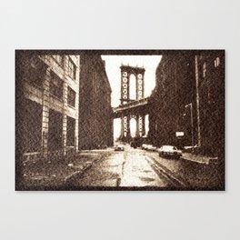 Manhattan Bridge in the 70s Canvas Print