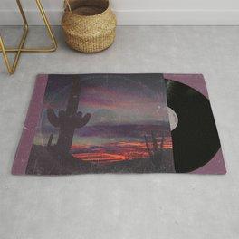 Darkness In The Desert - America As Vintage Album Art Rug
