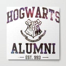 Hogwarts Galaxy Metal Print