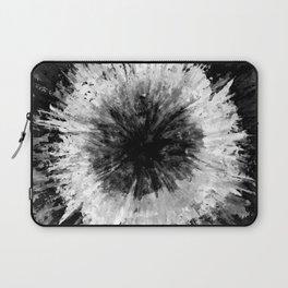 Black and White Tie Dye // Painted // Multi Media Laptop Sleeve