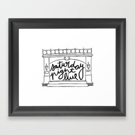 SNL Stage Framed Art Print