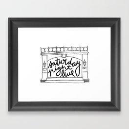 SNL Stage Framed Art Print