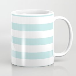Simply Striped in Succulent Blue Stripes on White Coffee Mug