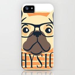 physics nerdy dog  iPhone Case