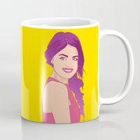 pretty little liars Mugs featuring Pretty little liars - Lucy Hale by Lais Design