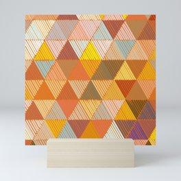 Meditative Lines on Rust #Geometric #Pattern Mini Art Print