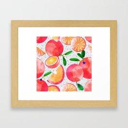 Citrus Love #digitalart #citrus Framed Art Print