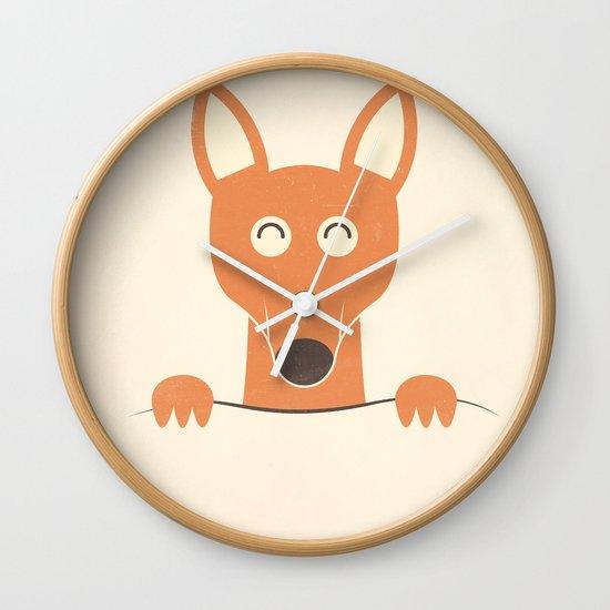 Pocket Kangaroo Wall Clock
