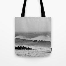 Storm over the sea coast. Tote Bag