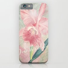 Cattleya Malouana Orchid - Pink Orchid Collage Art - Vintage Orchid Collage Slim Case iPhone 6
