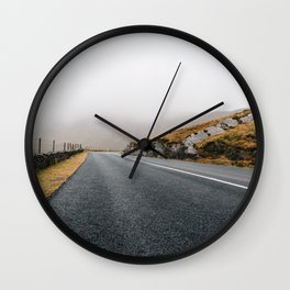 Misty Lonely Road II Wall Clock