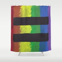 equality Shower Curtains featuring Marriage Equality by The Painted Kat