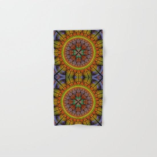 Groovy tribal pattern star Hand & Bath Towel