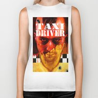 taxi driver Biker Tanks featuring Taxi Driver by ChrisNygaard