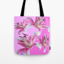 PURPLE & PINK ASIAN LILIES ART Tote Bag