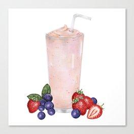 Strawberry Smoothie Canvas Print