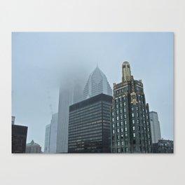Fog in Chicago Canvas Print