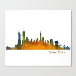 New York City Skyline Hq V01 Canvas Print