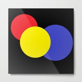 Red Yellow & Blue : Mod Circles Metal Print