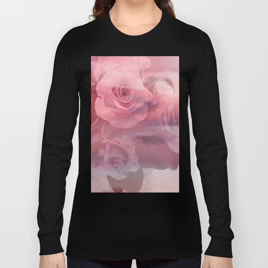 gray roses Long Sleeve T-shirt