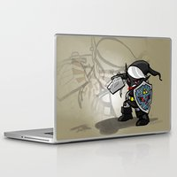 hyrule Laptop & iPad Skins featuring Dark Warrior of Hyrule by joshWenrick