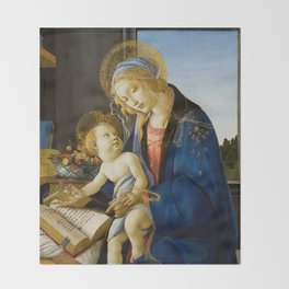 Sandro Botticelli - The Virgin and Child, 1480 Throw Blanket