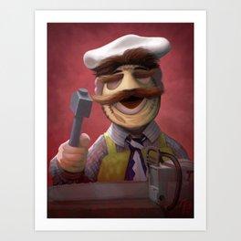 Muppet Maniac - Swedish Chef as Leatherface Art Print