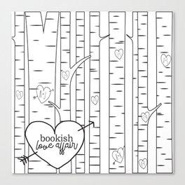 Bookish Love Affair Blk&Wht Canvas Print