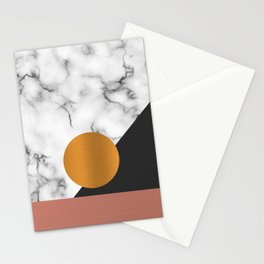 Marble & metals Stationery Cards