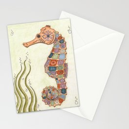 Decorative Seahorse Stationery Cards