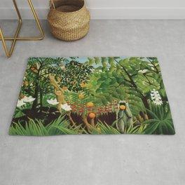 Henri Rousseau Exotic Landscape Rug