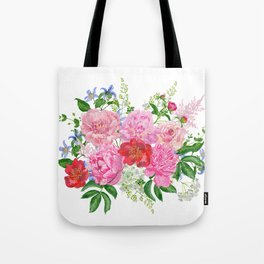 Bouquet of pink peonies Tote Bag