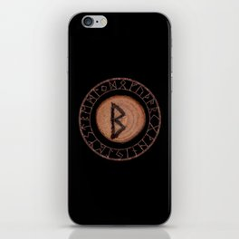Berkano Elder Futhark Rune secrecy, silence, safety, mature wisdom, dependence, female fertility iPhone Skin