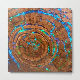 Sea of blue opal Metal Print