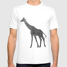Giraffe (The Living Things Series) MEDIUM White Mens Fitted Tee