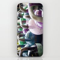 crossfit iPhone & iPod Skins featuring Kettlebell Gang by StirlingStudio