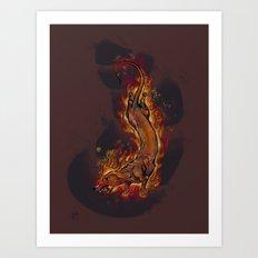 Dragon Dachshund Art Print