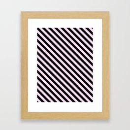 Pink Lace Pink and Black Diagonal LTR Stripes Framed Art Print