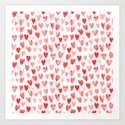 Watercolor heart pattern perfect gift to say i love you on valentines day by charlottewinter