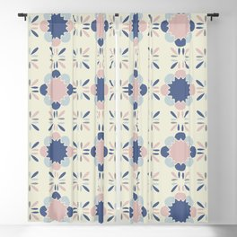 Pastel Tile Blackout Curtain