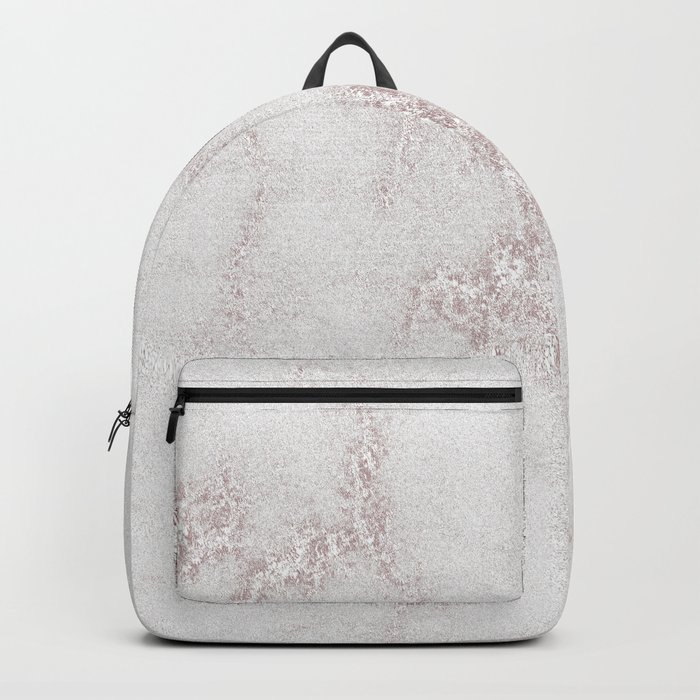 Marble Pattern Silver Rosé Backpack